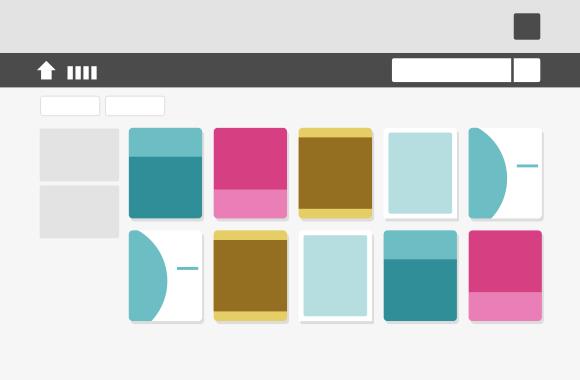 デジタルブック・電子カタログを一覧で並べるライブラリ機能