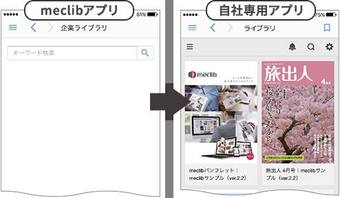 アプリの「企業ライブラリ」に初期状態で自社ライブラリを表示