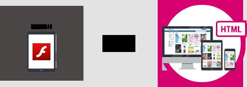 meclibならHTML5完全対応のデジタルブック